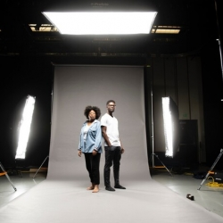 """BYU students Evelyn Harper and Kofi Aidoo who are both involved with """"Blindspot"""""""